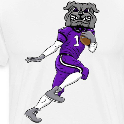 custom bulldog mascot gray football - Men's Premium T-Shirt