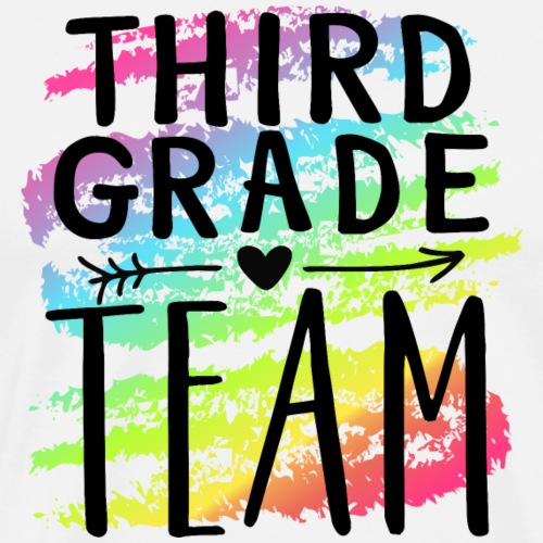 Third Grade Team Crayon Splash Teacher T-Shirts - Men's Premium T-Shirt