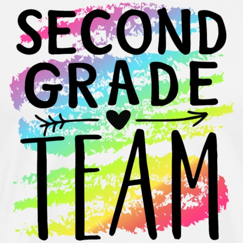 Second Grade Team Crayon Splash Teacher T-Shirts - Men's Premium T-Shirt