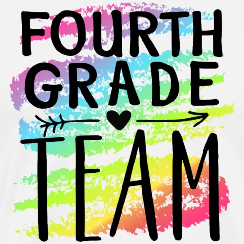 Fourth Grade Team Crayon Splash Teacher T-Shirts - Men's Premium T-Shirt