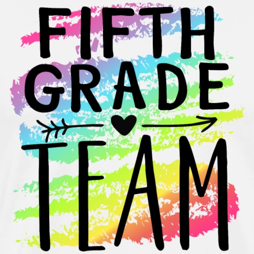 Fifth Grade Team Crayon Splash Teacher T-Shirts - Men's Premium T-Shirt