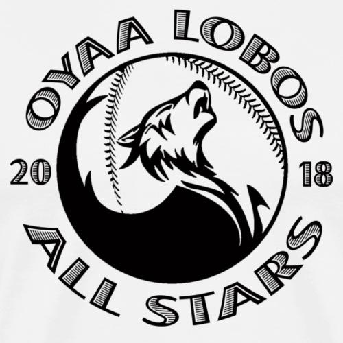 OYAA Lobos All Stars Black Logo - Men's Premium T-Shirt