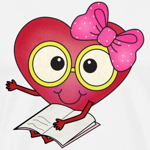 happy Heart Readers2 png - Men's Premium T-Shirt