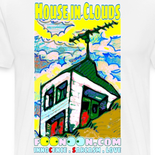 House in Clouds - Men's Premium T-Shirt