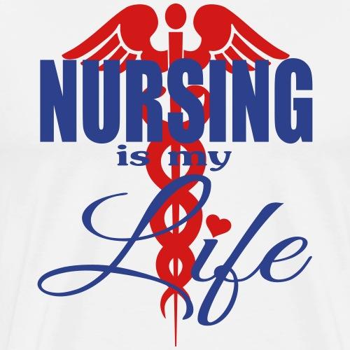 Nursing Is Life - Men's Premium T-Shirt