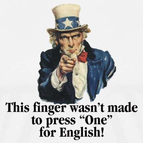 Uncle Sam - Finger - Men's Premium T-Shirt