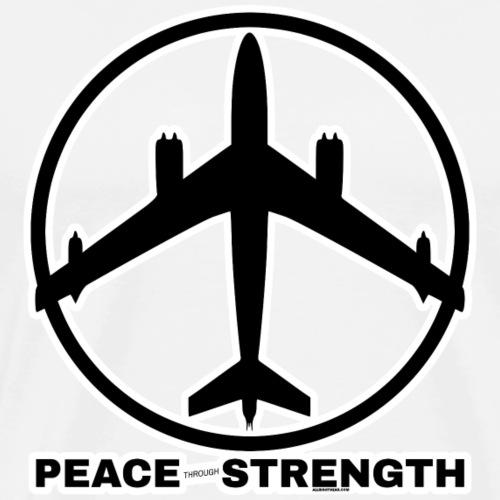 PEACE THROUGH STRENGTH BL - Men's Premium T-Shirt