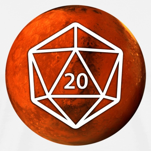Mars d20 Astronomy Space - Men's Premium T-Shirt