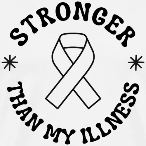 stronger than my illness (light) - Men's Premium T-Shirt