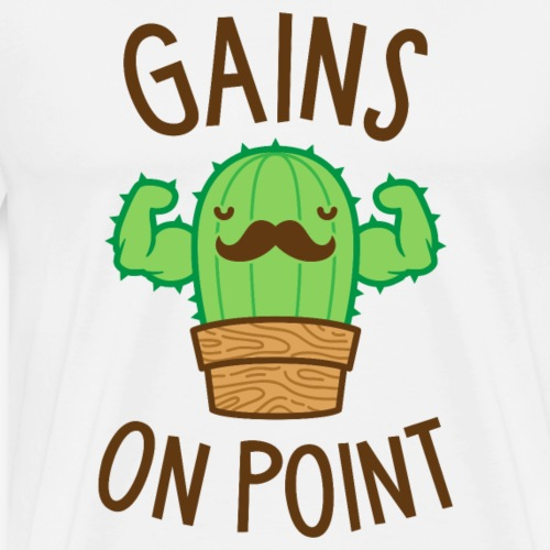 Gains On Point (Cactus Pun) - Men's Premium T-Shirt