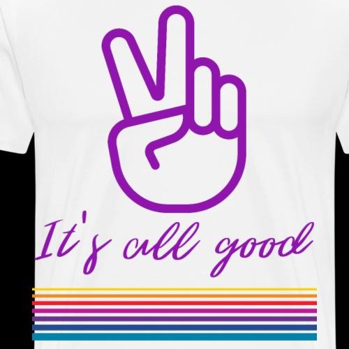 It's all good | Retro Peace - Men's Premium T-Shirt