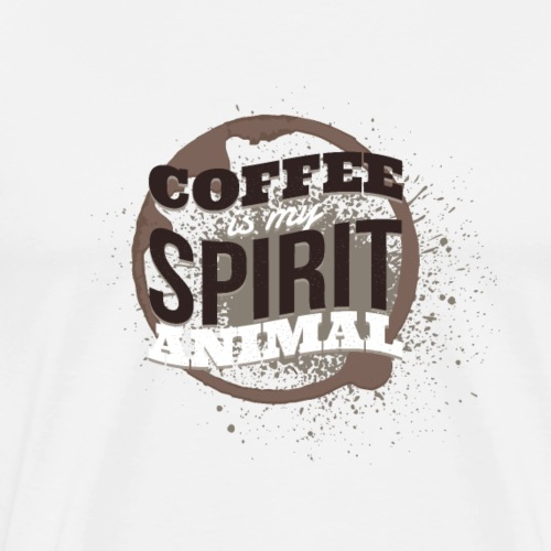 Coffee quote - Men's Premium T-Shirt