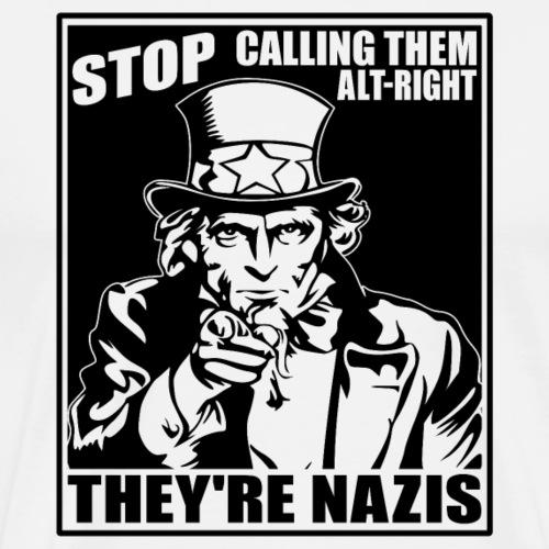 Anti Alt Right - Men's Premium T-Shirt