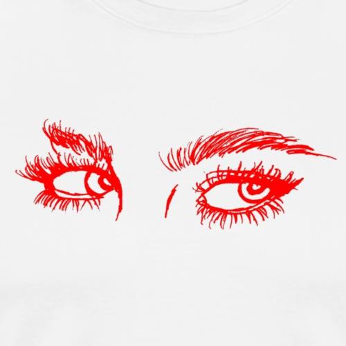 Real Eyes - Red - Men's Premium T-Shirt
