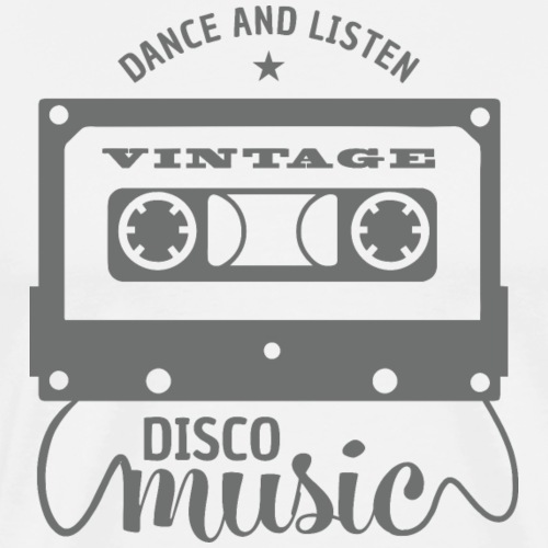 disco music retro vintage - Men's Premium T-Shirt