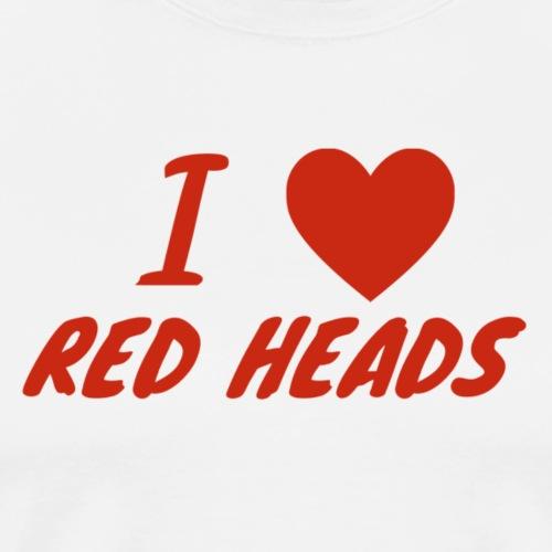 I HEART RED HEADS - Men's Premium T-Shirt