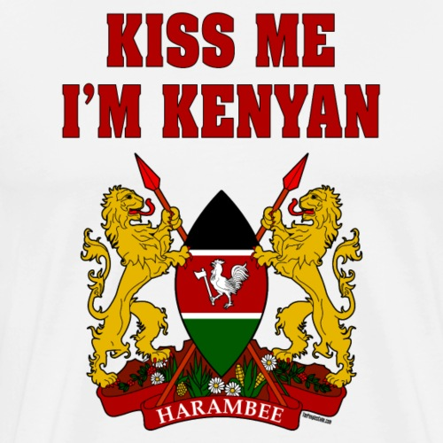 Kiss Me, I'm Kenyan - Men's Premium T-Shirt