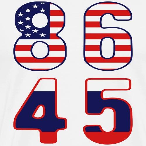 Patriotic 86 45 Anti Trump T-shirt - Men's Premium T-Shirt