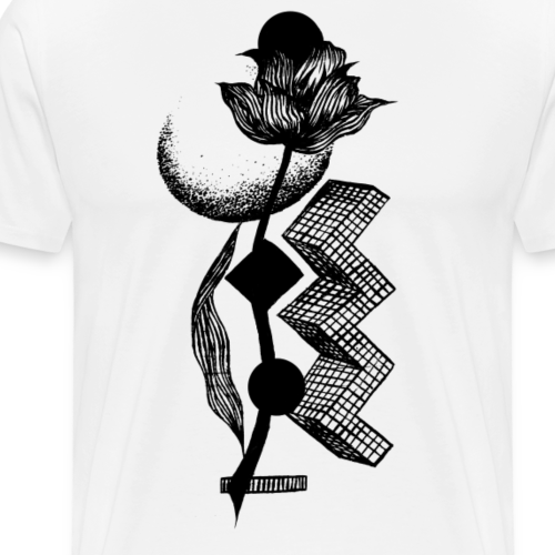 Flower & moon - Men's Premium T-Shirt