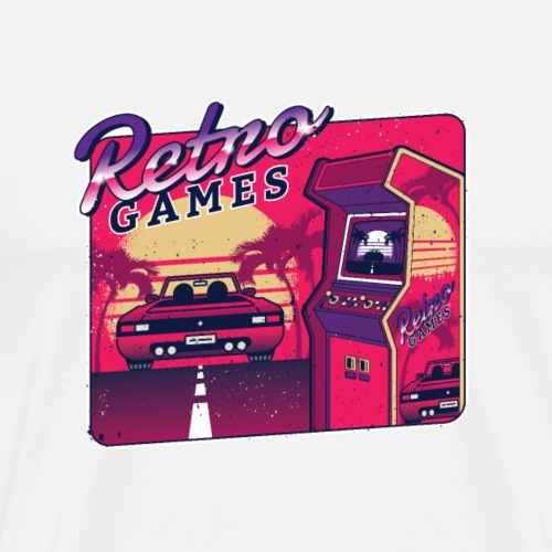 Retro Games - Men's Premium T-Shirt