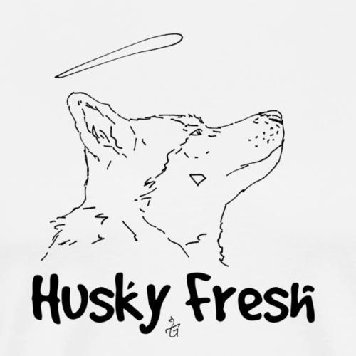Dog Shirt   Husky Fresh 4th - Men's Premium T-Shirt