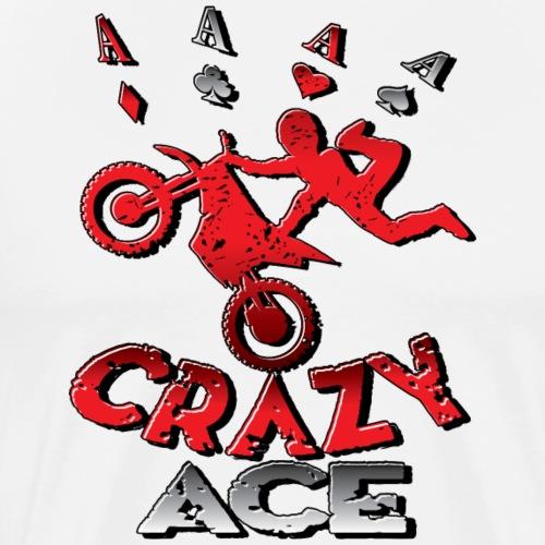 Crazy Ace Dirt Biker - Men's Premium T-Shirt