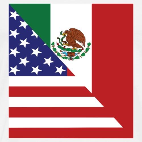 Mexican American Flag - Men's Premium T-Shirt