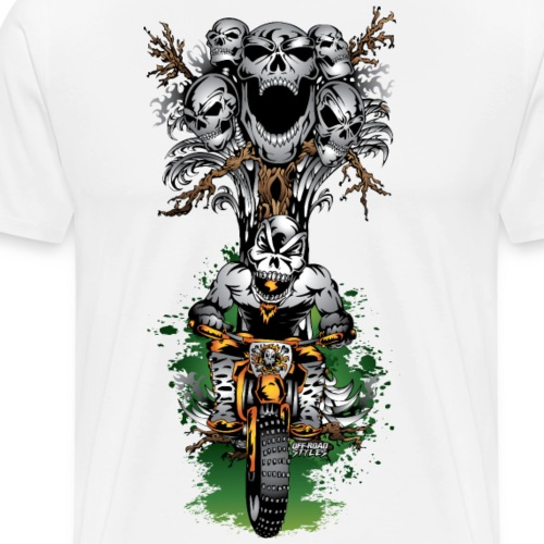 Skull Tree Halloween - Men's Premium T-Shirt