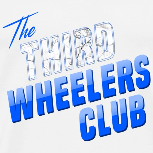 the Third Wheelers Club Blue - Men's Premium T-Shirt