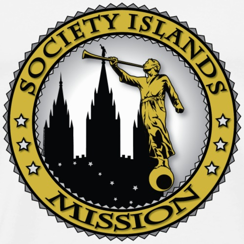 Society Islands Mission - LDS Mission Classic Seal - Men's Premium T-Shirt