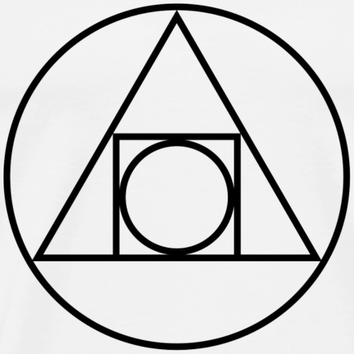 Alchemy Philosopher's Stone Symbol Sacred Geometry - Men's Premium T-Shirt