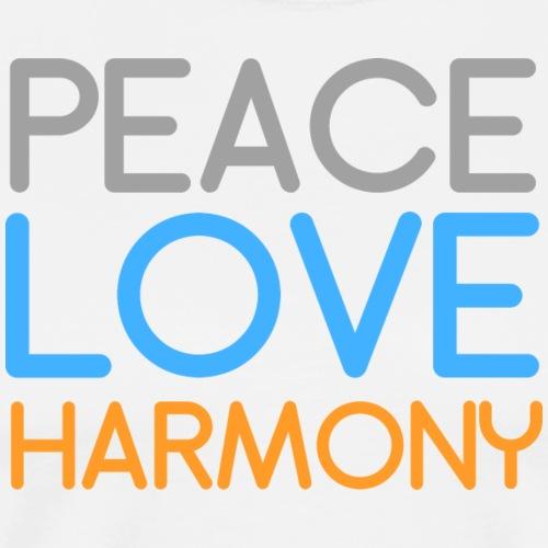 Peace Love Harmony - Men's Premium T-Shirt