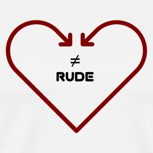 love is not rude - Men's Premium T-Shirt