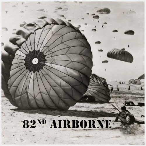 82nd Airborne Gifts - Paratrooper Landing - Men's Premium T-Shirt