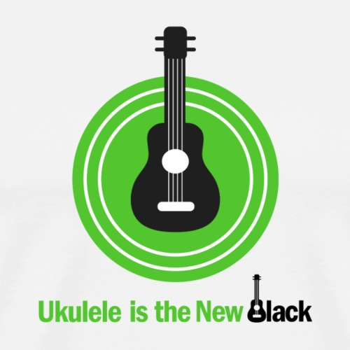 Ukulele Is The New Black - for Light Background - Men's Premium T-Shirt
