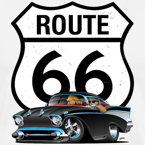 Route 66 Classic Car Nostalgia - Men's Premium T-Shirt