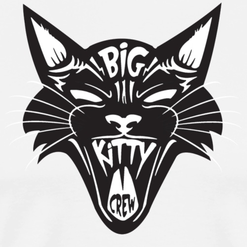 Big Kitty-Screaming Cat - Men's Premium T-Shirt