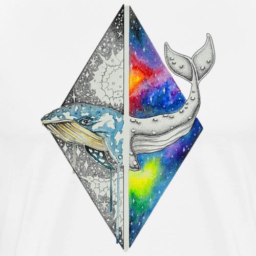 Multidimensional Whale - Men's Premium T-Shirt