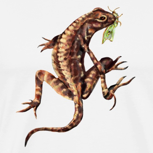 Lizard and bug - Men's Premium T-Shirt