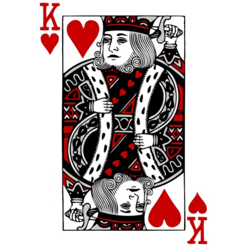 king of hearts Valentines Day (his and her) - Men's Premium T-Shirt