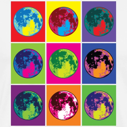 Abstract Retro Moon Art - Men's Premium T-Shirt