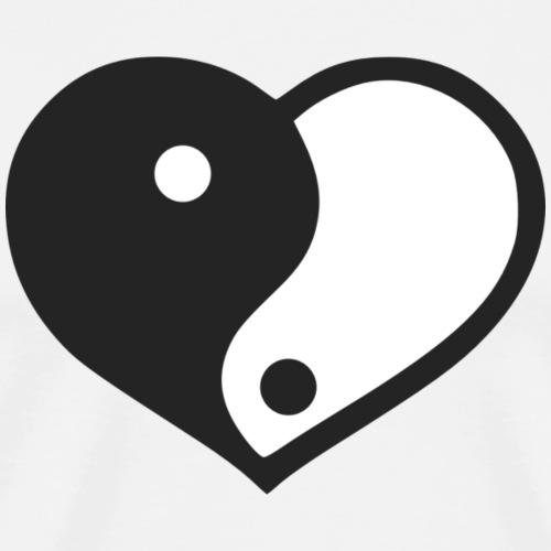 Yin Yang Heart - Men's Premium T-Shirt