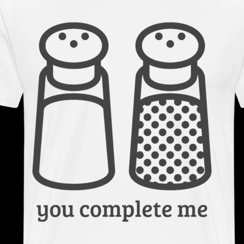 You Complete Me   Salt & Pepper Couple - Men's Premium T-Shirt
