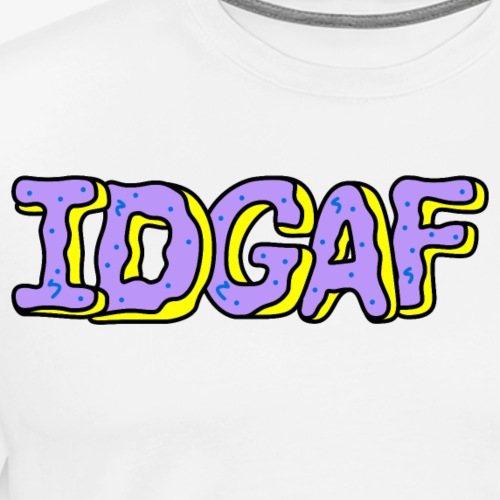 IDGAF Violet Donuts - Men's Premium T-Shirt