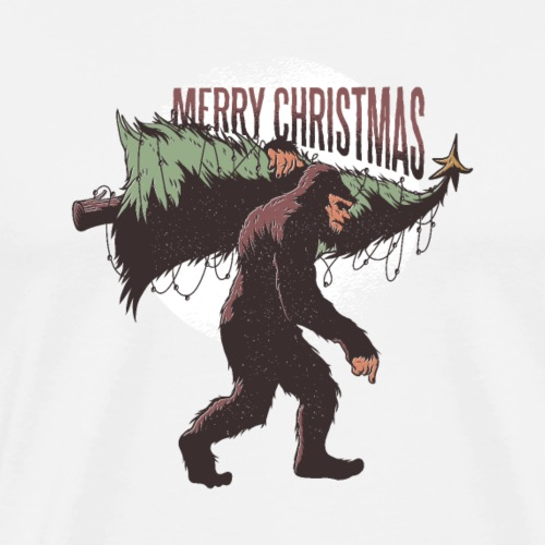 Bigfoot christmas - Men's Premium T-Shirt