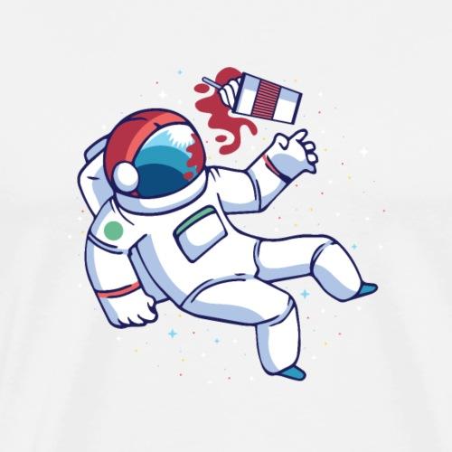Astronaut frappuccino - Men's Premium T-Shirt