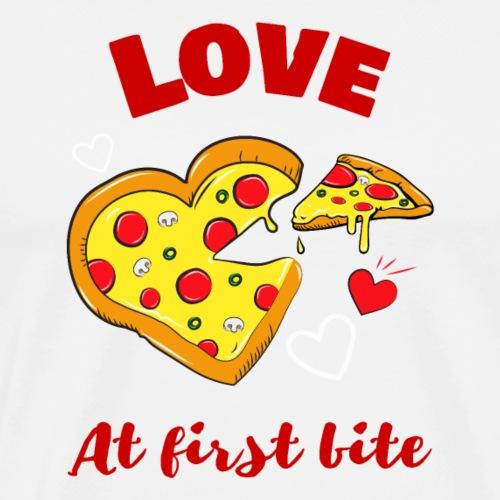Love at First Bite   Pizza Lover - Men's Premium T-Shirt