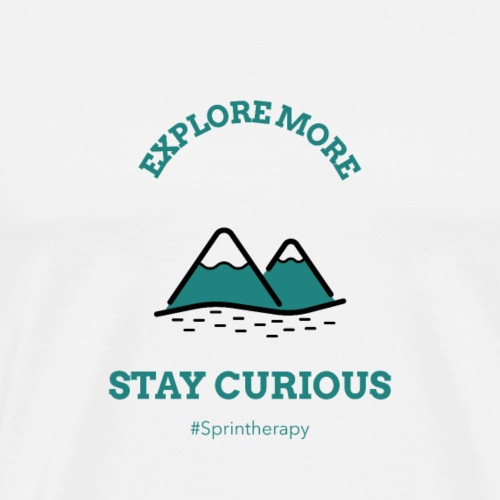 Hiking in the Mountains - Men's Premium T-Shirt