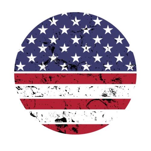 American flag full circle red white blue - Men's Premium T-Shirt
