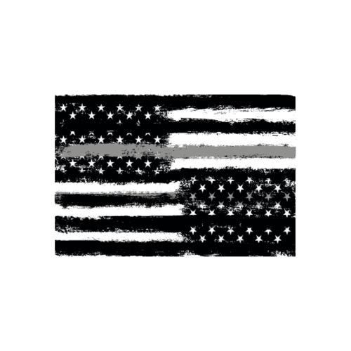 Grey Line American Flag - Men's Premium T-Shirt
